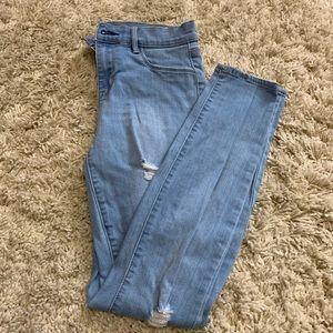 high waisted blue pacsun jeans
